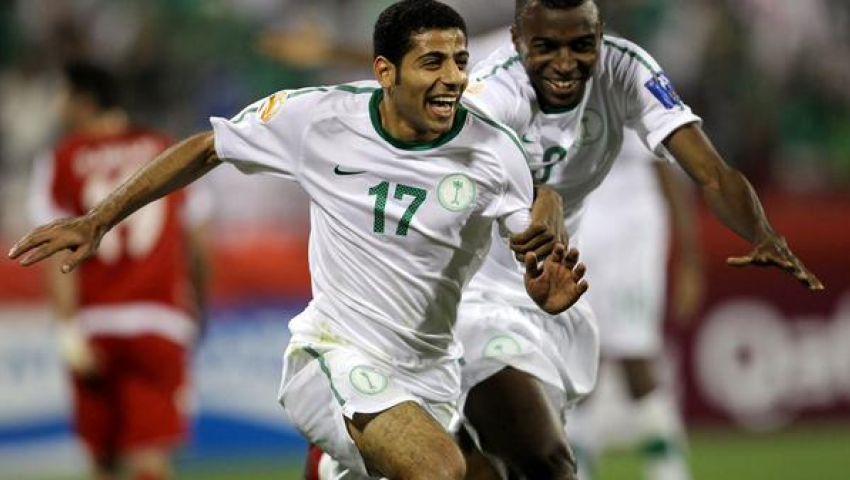 الجاسم يحتفل بمئويته في فوز السعودية على الأردن