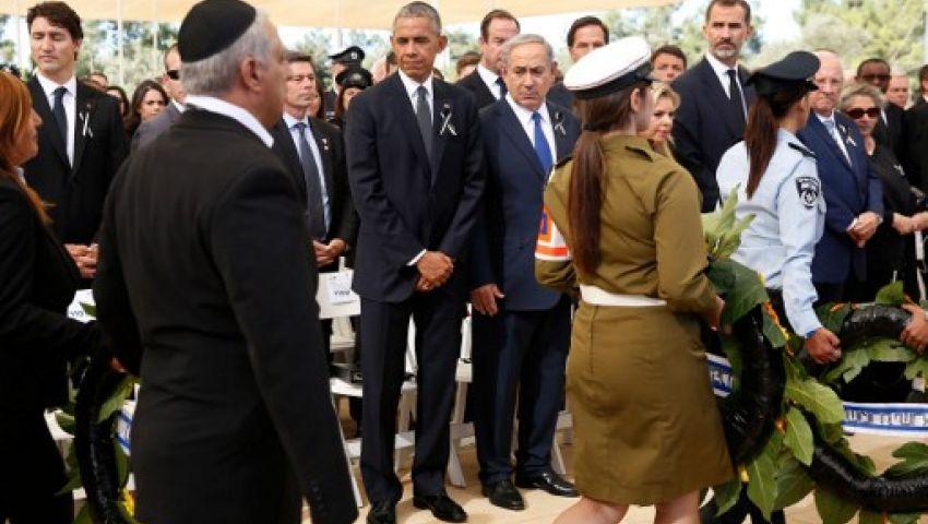 أوباما: مشاركة عباس في جنازة بيريس تذكير بالحاجة للسلام