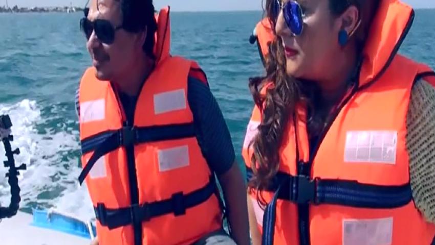 شاهد الحلقة الثالثة من رامز قرش البحر
