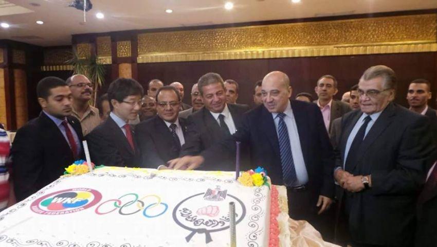 وزير الرياضة يشهد احتفالية اتحاد الكاراتيه بانضمامها للألعاب الأولمبية