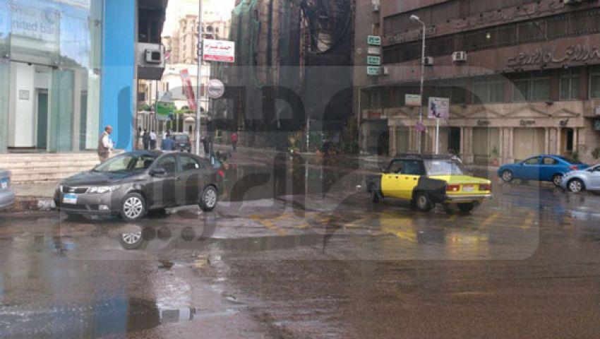 بالصور.. نوة المكنسة تغرق شوارع الإسكندرية