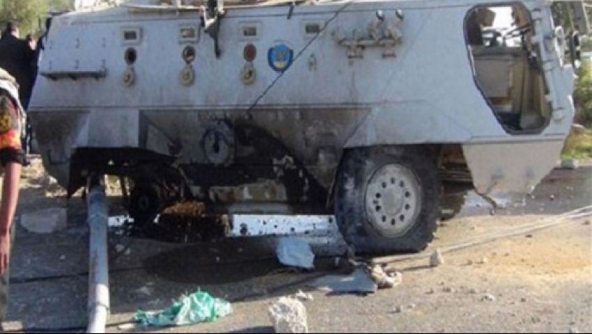 مقتل 7 وإصابة 4 في تفجير مدرعتي شرطة جنوب العريش