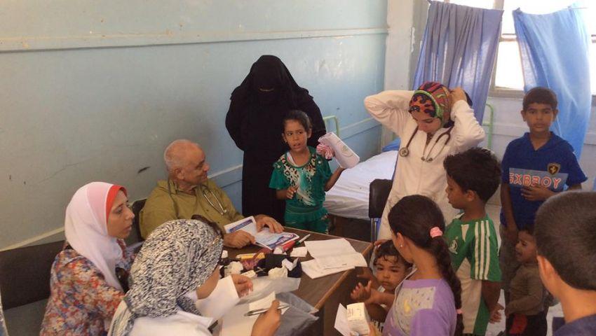 علاج 360 حالة في قافلة جامعة الإسكندرية بباجوش