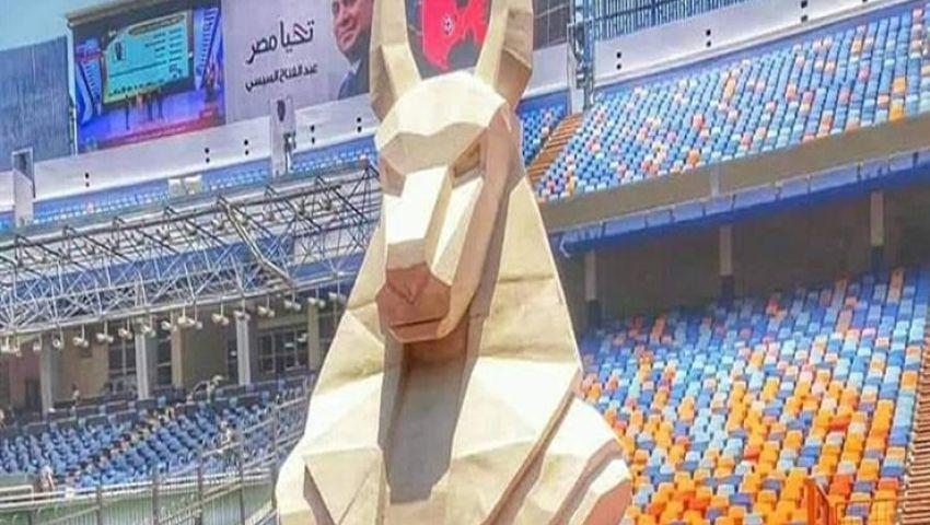 بعد إثارته للجدل.. الآثار ترفع «الإله أنوبيس» من ستاد القاهرة