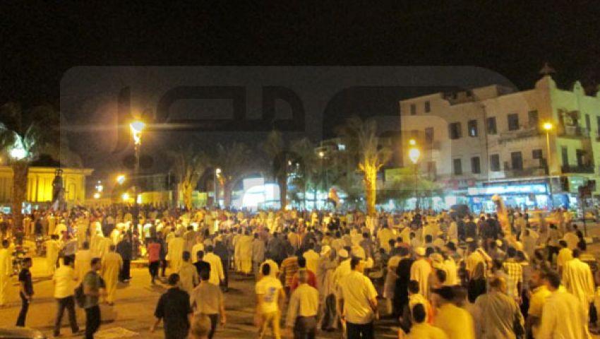 الآلاف يتظاهرون  في أسوان دعمًا لـ مرسي