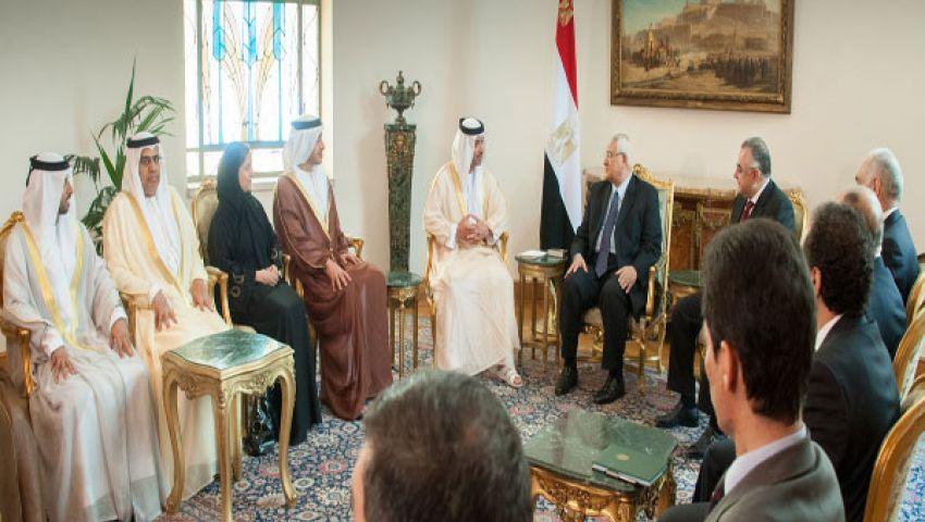 الوفد الإماراتى يغادر القاهرة بعد لقاء منصور