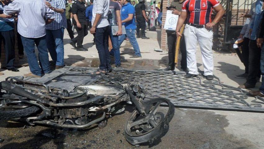 عمل تخريبي يلغي مظاهرات طلاب ضد الانقلاب بجامعة المنصورة