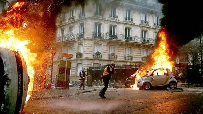 بالفيديو  انفجار ضخم  وسط العاصمة الفرنسية باريس