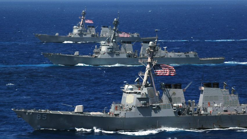 مناورة بحرية أمريكية بمشاركة 30 دولة في مياه الخليج