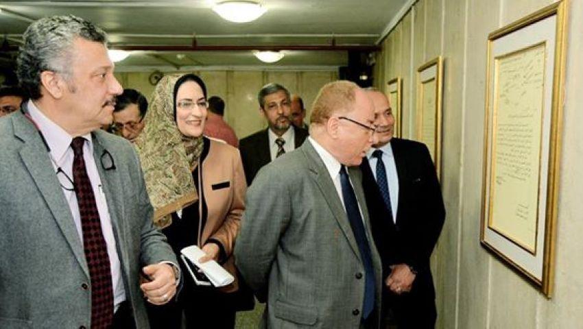 بالصور.. وزير الثقافة يتفقد مخازن الوثائق المطورة بدار الكتب