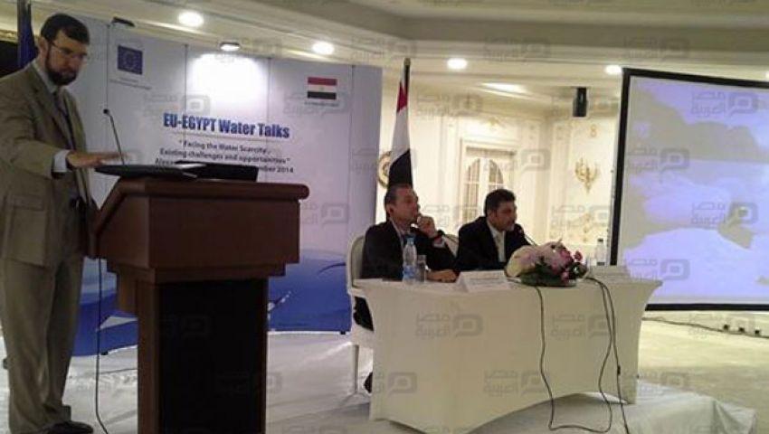 بالصور.. وزير الري يفتتح المغذي الحربي لخدمة 30 ألف فدان بالبحيرة