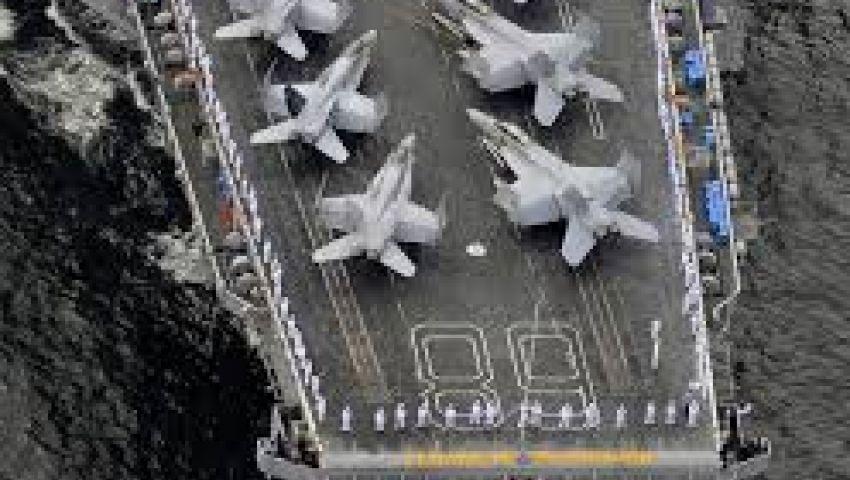 حاملة طائرات أمريكية تستعد لضرب سوريا