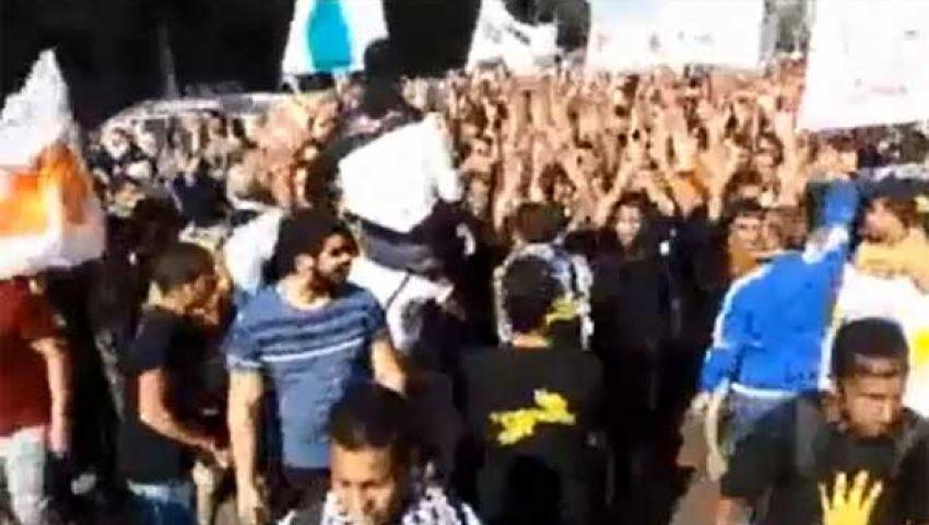 فيديو.. مسيرة رافضي الانقلاب بـ أنابيب البوتاجاز