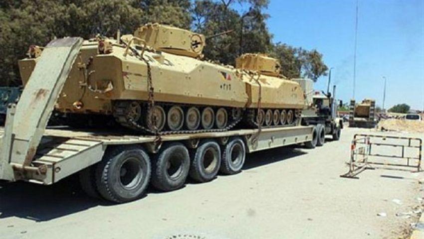 الجيش يدفع بمزيد من آلياته العسكرية لسيناء