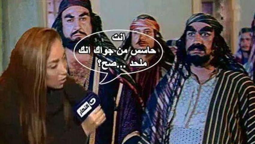 نشطاء يسخرون من طرد ريهام لملحدة: المذيع دايمًا على حق