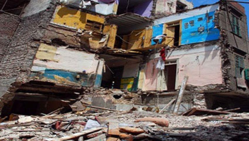انهيار عقار من 7 طوابق بالإسكندرية