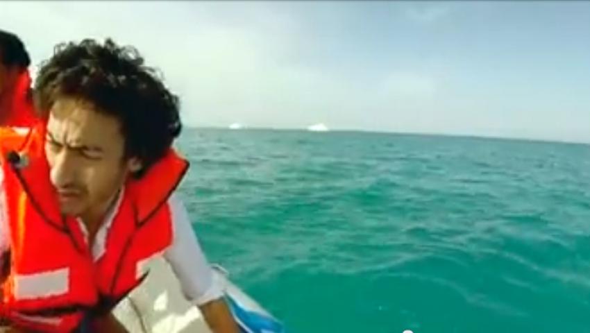 شاهد الحلقة الثانية من رامز قرش البحر