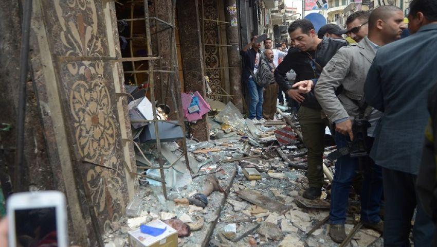 شاهد| لحظة انفجار الكنيسة المرقسية بالإسكندرية