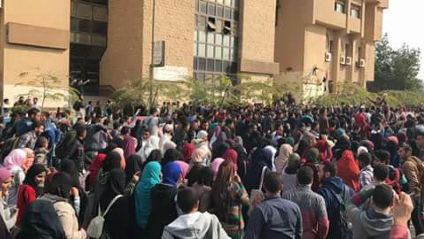 صور| مظاهرات غضب بجامعة الأزهر احتجاجًا على «تهويد القدس»