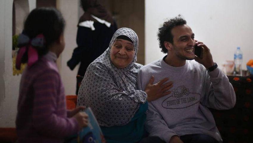 بالصور.. «شوكان» يصل إلى منزله بعد انتهاء عقوبة سجنه 5 سنوات