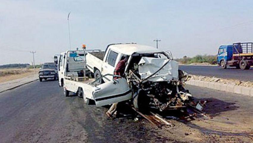 مصرع وإصابة 11 شخصًا في حادثين بالفيوم