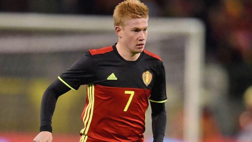 مدرب بلجيكا يؤكد غياب دي بروين للإصابة