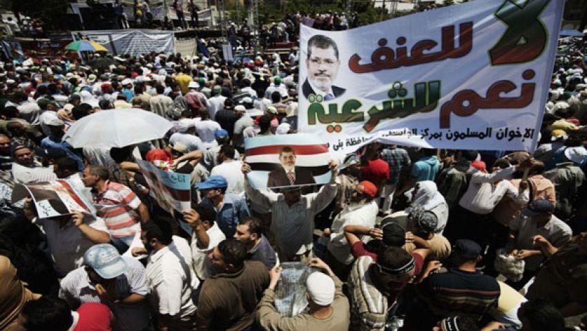 إطلاق نار خلال مظاهرة مؤيدة لمرسي قرب ميدان النهضة بالجيزة