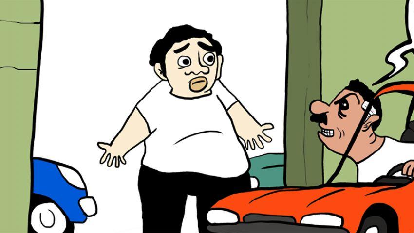 كاريكاتير : معرض الامانة للسيارات