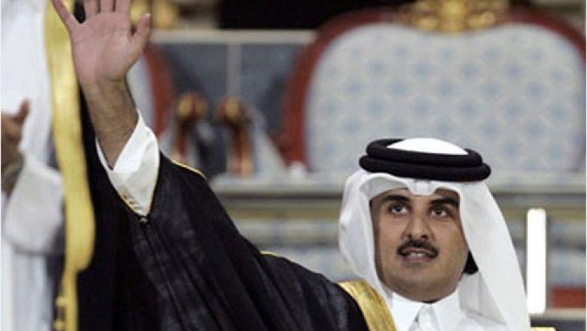 أمير قطر يهنئ الرئيس المصري المؤقت