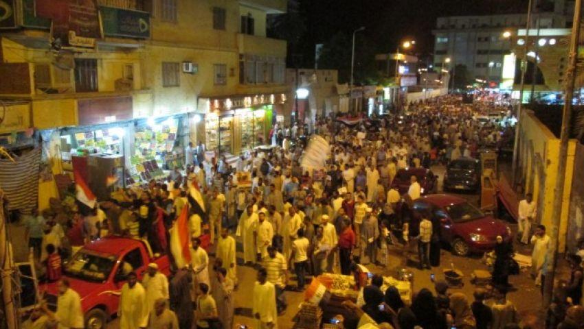 مسيرة حاشدة تجوب شوارع أسوان للمطالبة بعودة مرسي للحكم
