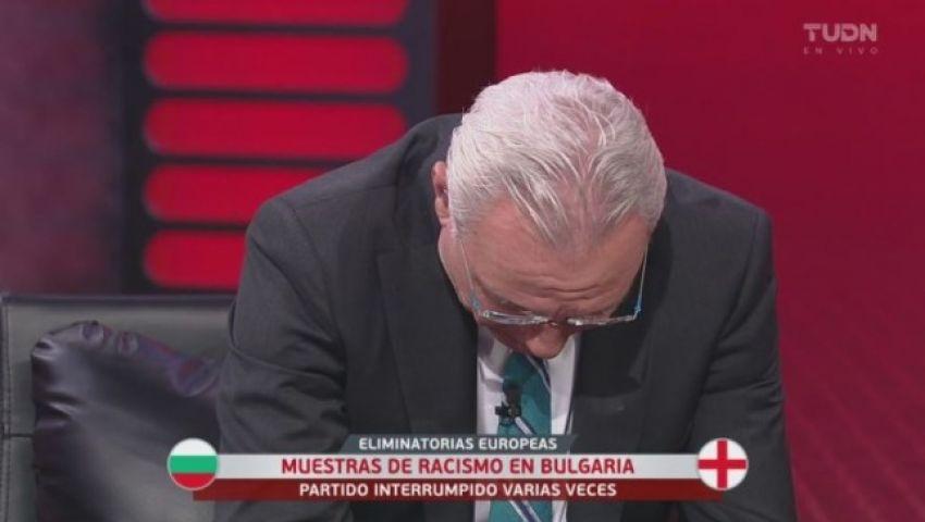 فيديو| رفضًا لعنصرية جماهير بلغاريا.. ستويشكوف يجهش بالبكاء