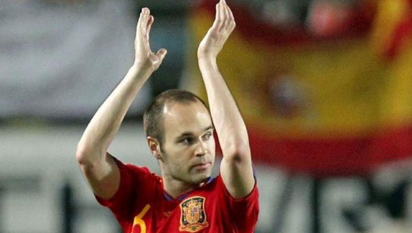 إنييستا: حقّقت حلمي بقيادة منتخب إسبانيا