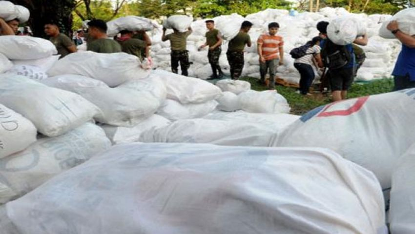 40 طن أرز إغاثة  لضحايا إعصار الفلبين