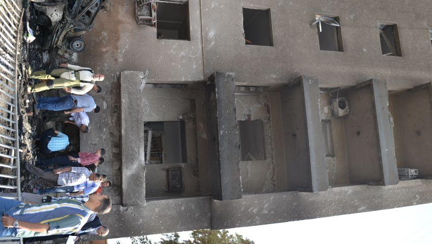 بالصور.. القصاص ووصفي يتفقدان موقع انفجار الإسماعيلية