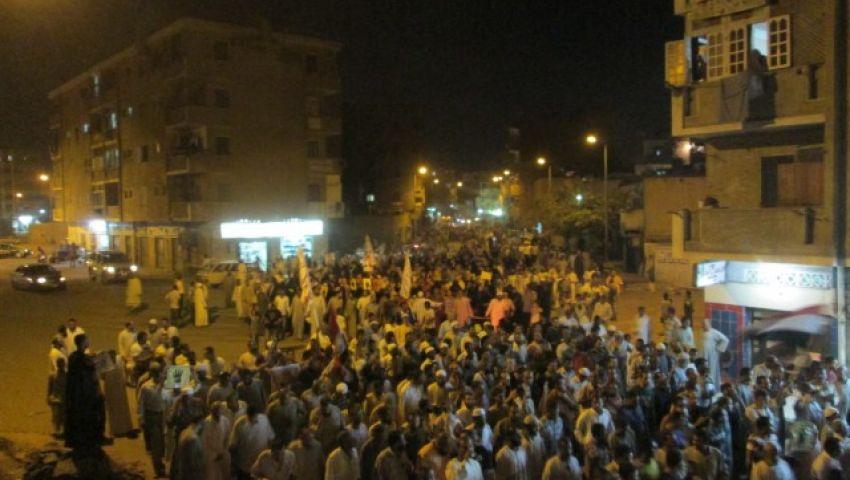 مسيرة تجوب شوارع أسوان للمطالبة بالقصاص للشهداء