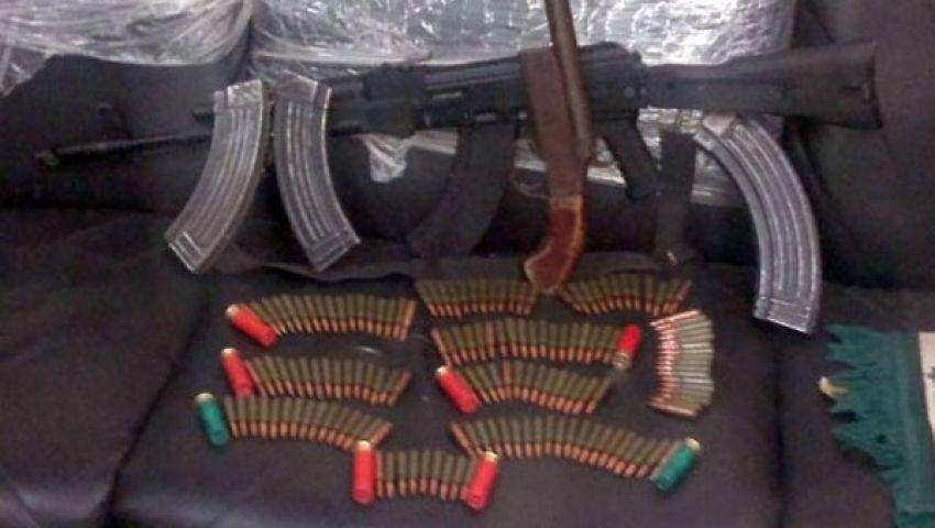 ضبط أسلحة نارية وذخائر بالإسكندرية