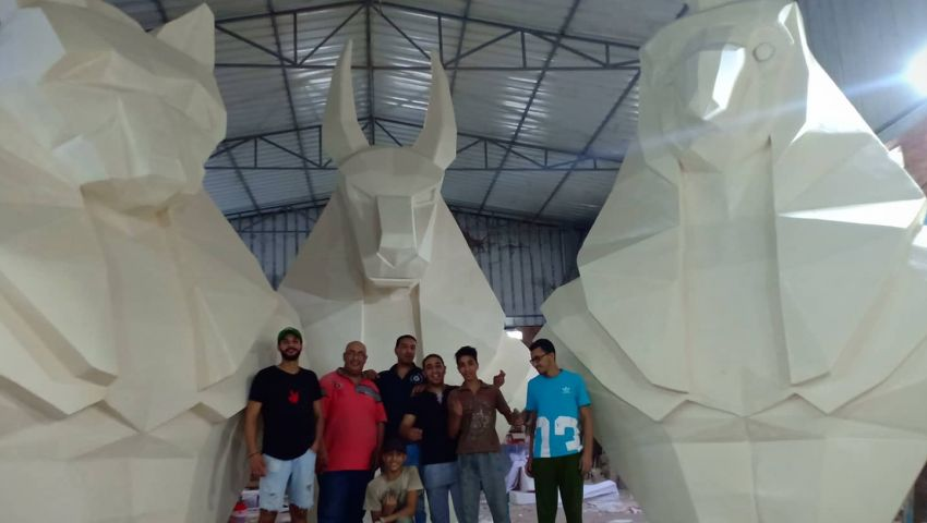 مصمم تماثيل افتتاح كأس الأمم الإفريقية يروي كواليس مجهود 8 أيام  لـ«مصر العربية»