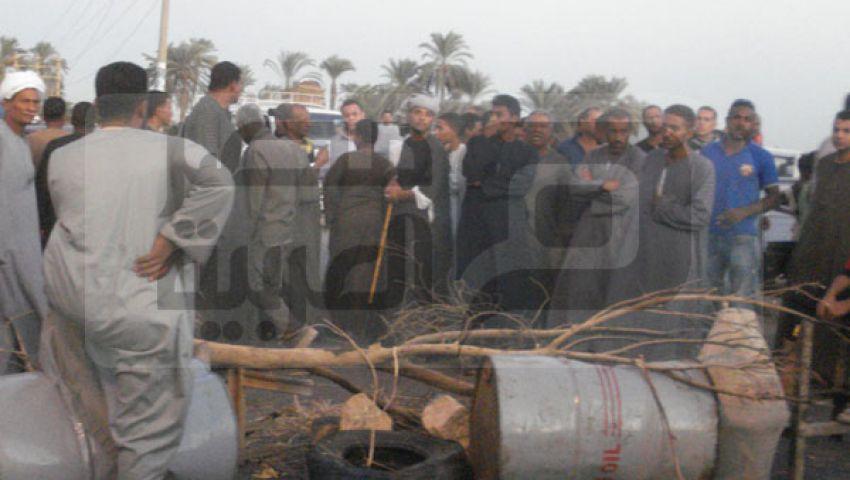 قطع طريق مصر أسوان بسبب نقص السولار