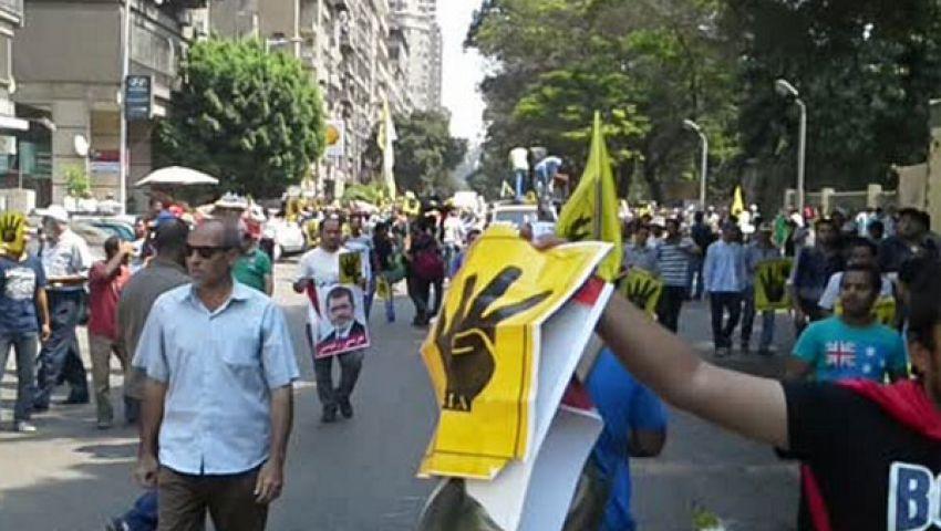 مذبحة رابعة تتصدر مظاهرات المهندسين