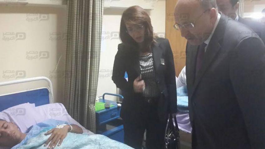 بالصور.. وزيرا الصحة والتضامن يزوران مصابي العريش