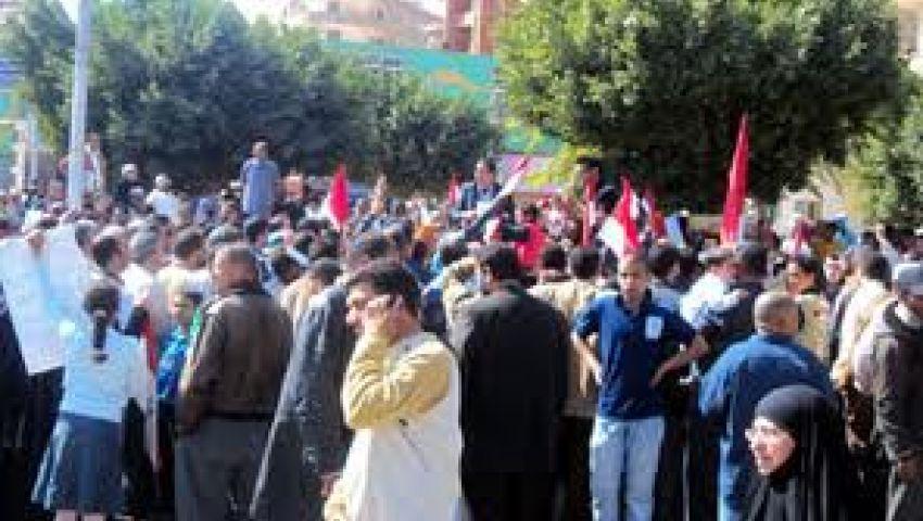 متظاهرو الفيوم بدأوا الاعتصام استعدادًا لـ30 يونيو