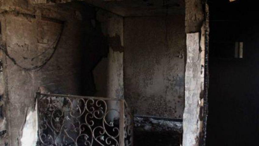 حرق فيلا مرشد الإخوان محمد بديع ببنى سويف
