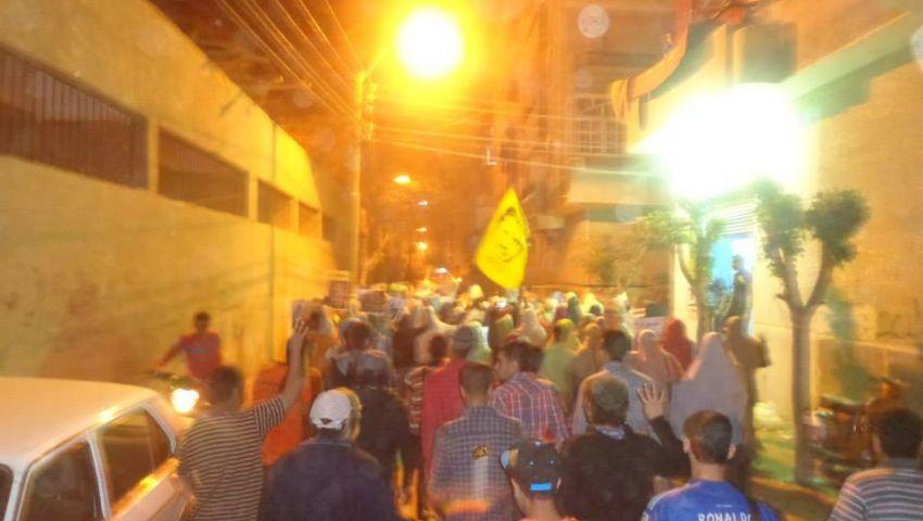 بالصور..مسيرة ببني سويف تندد بـوثيقة سد النهضة
