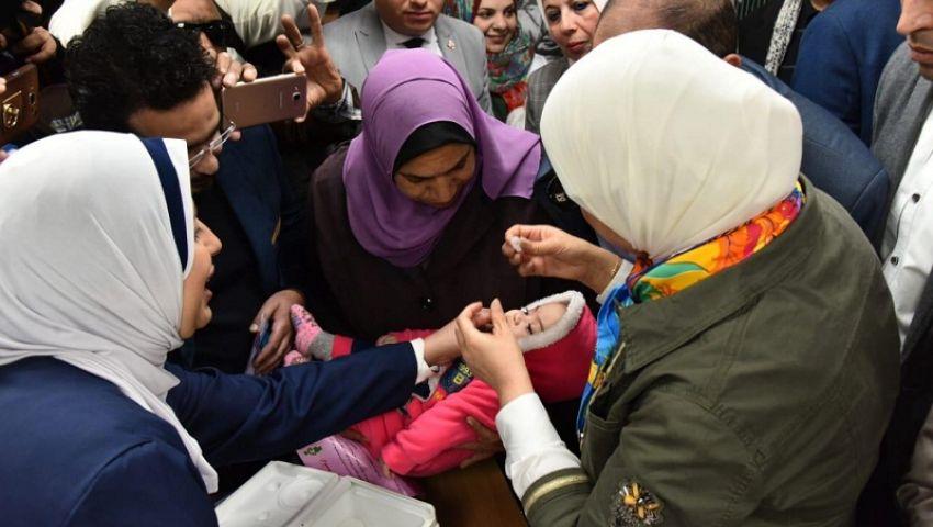 بالصور| من عمر يوم لـ 5 أعوام.. «الصحة» تطلق حملة تطعيم شلل الاطفال