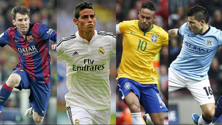بالأرقام.. 10 نجوم أسياد لاعبي أمريكا الجنوبية