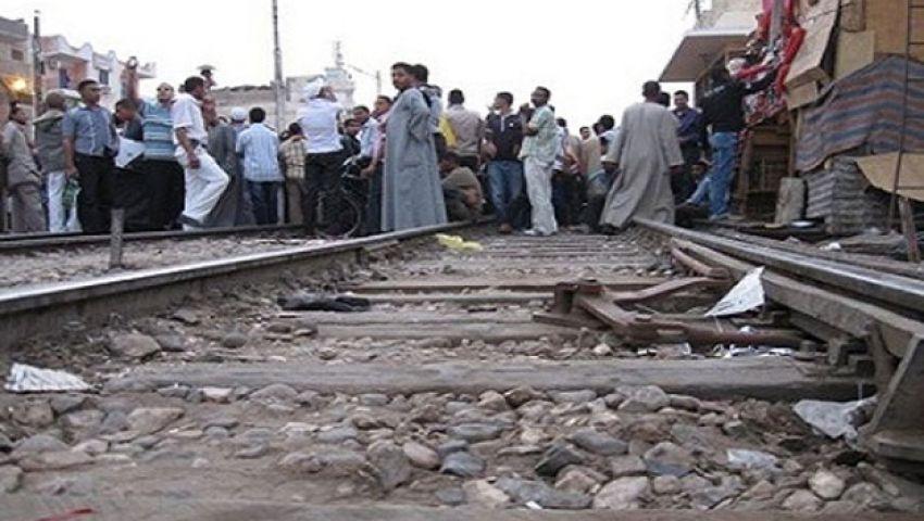 مجهولون يقطعون شريط سكة حديد بالمنوفية