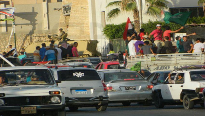 مسيرات منددة بمرسي وأخرى مؤيدة بشوارع العريش