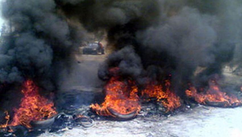 قطع طريقالمحلة ـ زفتى احتجاجًا على جريمة قتل