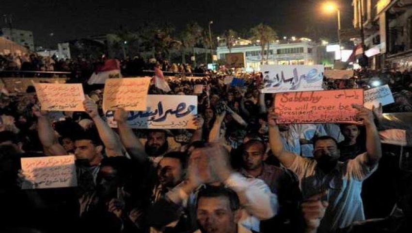 المسيرات الليلية المؤيدة لمرسي تجوب محافظات مصر
