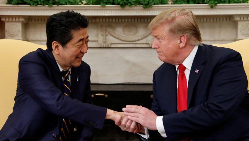 ترامب ورئيس وزراء اليابان يبحثان رحلة طهران وهجوم خليج عمان